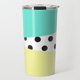 Color Block & Polka Dots Travel Mug