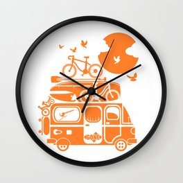 Funny family vacation camper Wall Clock