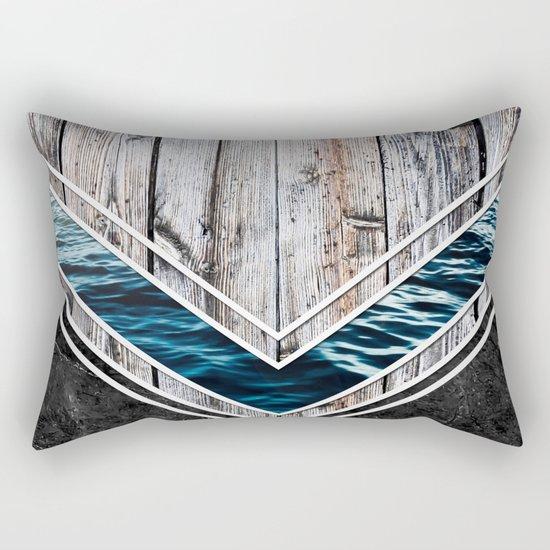 Striped Materials of Nature II Rectangular Pillow