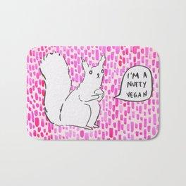 Im a nutty vegan Bath Mat