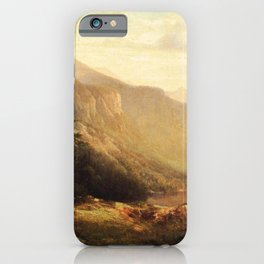 An Artist S View Of Mt Lafayette 1871 By Thomas Hill | Reproduction iPhone Case