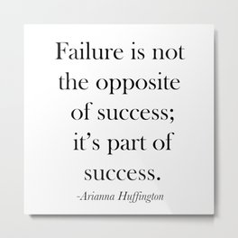 Success Quote Metal Print