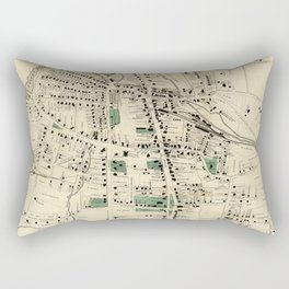 Vintage Map of Danbury Connecticut (1867) Rectangular Pillow