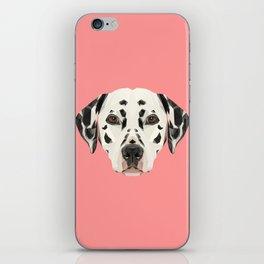 Dalmatian // Pink  iPhone Skin