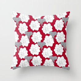 Alabama crimson Throw Pillow