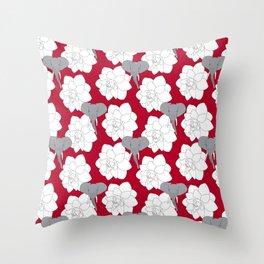 Alabama crimson Throw Pillow