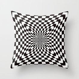 Checkered Optical Illusion Throw Pillow