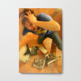 Computer committed suicide Metal Print