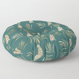 Cheetah Eucalyptus Glam Pattern #3 #tropical #decor #art #society6 Floor Pillow