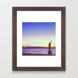 NYC in Seattle Framed Art Print