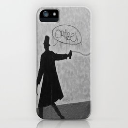 a man, a bird and a cat iPhone Case