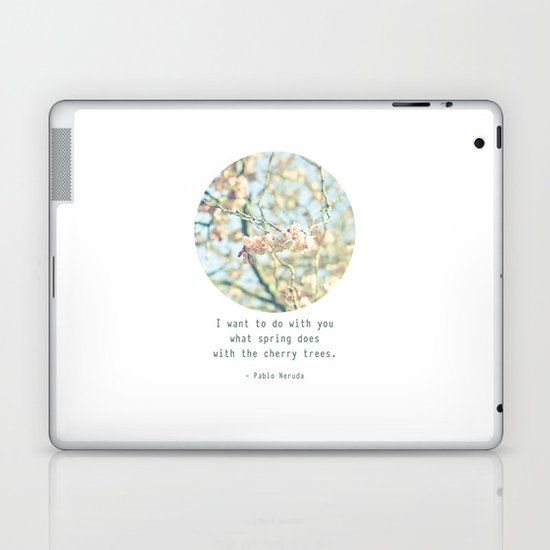 What the spring does to cherry trees Laptop & iPad Skin