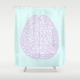 Pastel Brain Shower Curtain