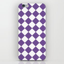 Large Diamonds - White and Dark Lavender Violet iPhone Skin