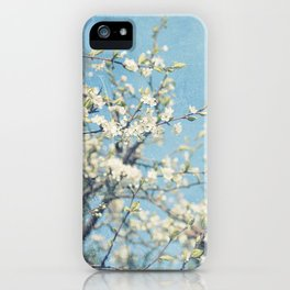White and Blue Spring no. II iPhone Case