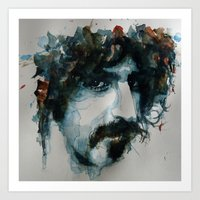 zappa Art Prints featuring Frank Zappa by Paul Lovering Watercolors