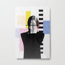 With eyes closed Metal Print