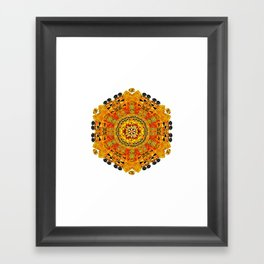 Patterned Sun Framed Art Print