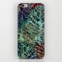 Colorful leaves iPhone Skin
