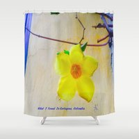 colombia Shower Curtains featuring What I Found in Cartegena & Bogota Colombia is Precious by ANoelleJay