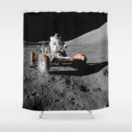 Apollo 17 - Moon Buggy Shower Curtain