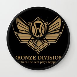 Bronze Division Wall Clock