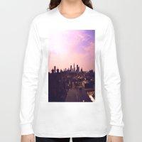 cleveland Long Sleeve T-shirts featuring Cleveland Skyline by Toni Tylicki