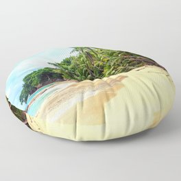 Tropical Beach - Landscape Nature Photography Floor Pillow