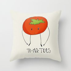 To-ma-toes Throw Pillow