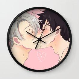Love on ice Wall Clock