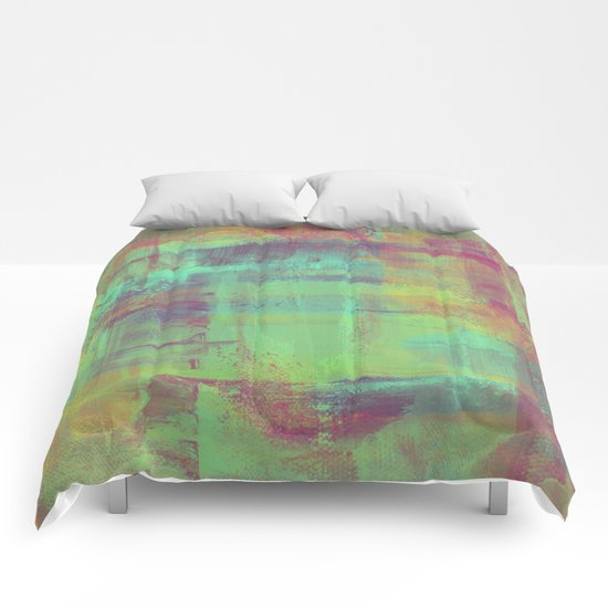 Humility - Mixed Colour Abstract Comforters