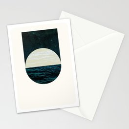 Nocturne Water & Air, Circle & Square Stationery Cards