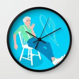 Blue Wall Clock