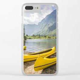 Bohinj lake, Slovenia Clear iPhone Case