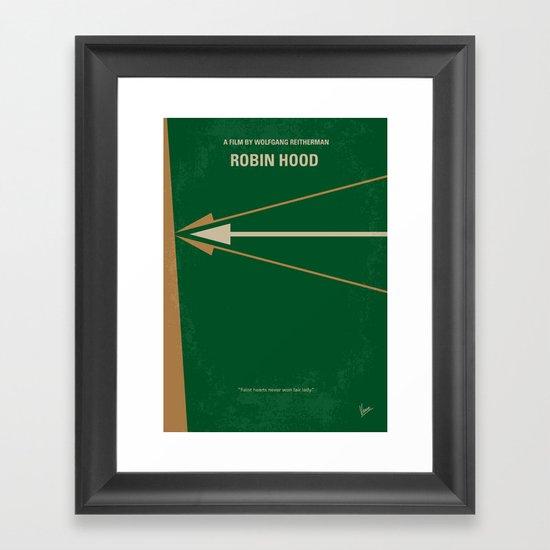 No237 My Robin Hood minimal movie poster Framed Art Print