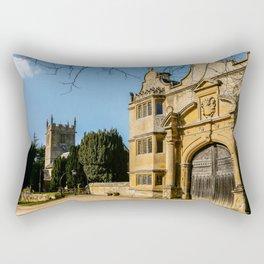 Cotswold Gatehouse & Church. Rectangular Pillow