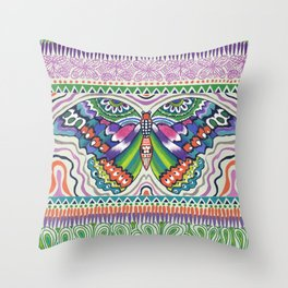 Tribal Butterfly Throw Pillow