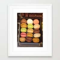 macarons Framed Art Prints featuring Macarons by Catherine Heft