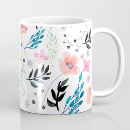 Sweet Floral Watercolor Coffee Mug