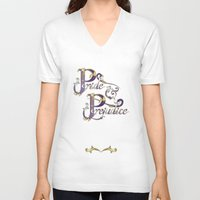 pride and prejudice V-neck T-shirts featuring Pride and Prejudice by Ketina