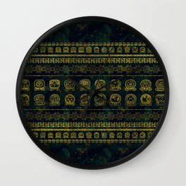 Maya Calendar Glyphs pattern Wall Clock