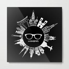 La Casa de Papel - White Version Metal Print