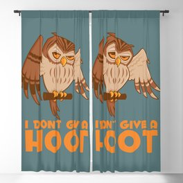 I Don't Give A Hoot Owl Blackout Curtain
