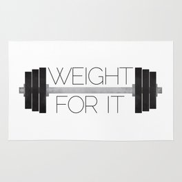 Weight For It Rug
