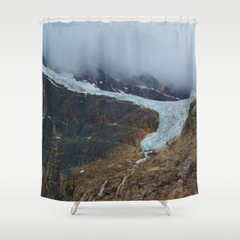 Angel Glacier on Mt. Edith Cavell in Jasper National Park, Canada Shower Curtain