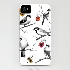 BIRDS & FLOWERS iPhone (4, 4s) Slim Case