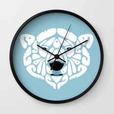 An Béar Bán (The White Bear) Wall Clock
