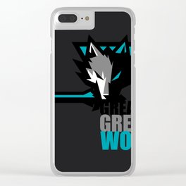 Great Grey Wolf Clear iPhone Case