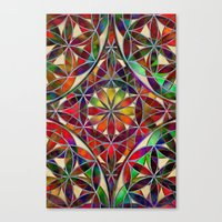 flower of life Canvas Prints featuring Flower of Life variation by Klara Acel