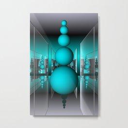 room  with mirrors -b- Metal Print